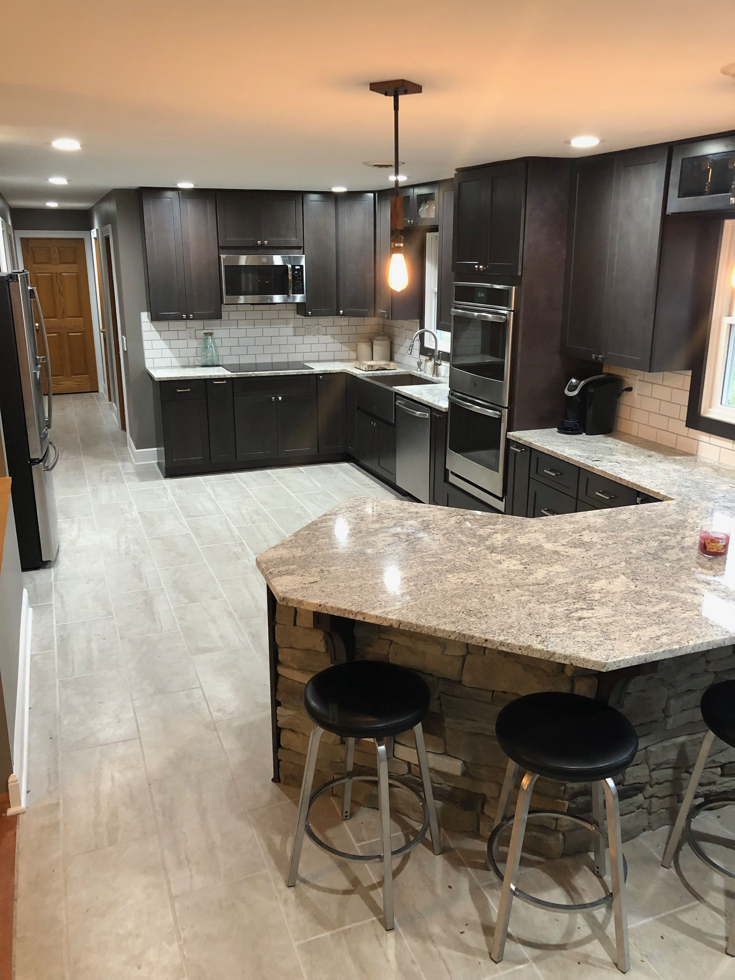 Former 10x12 Galley Style Kitchen With Honey Oak Paneling And Cabinets Was Expanded By Taking Small Kitchen Design Layout Kitchen Design Images Kitchen Design