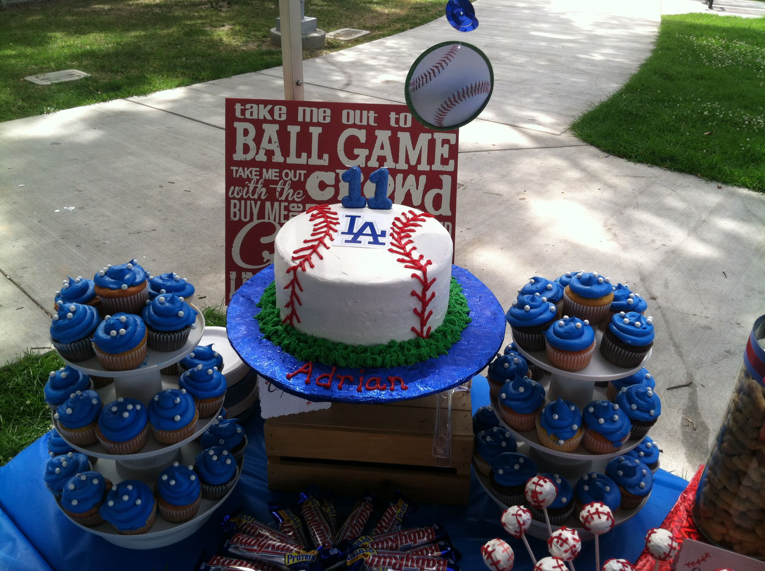 Dodger birthday cake Birthday Parties that Ive thrown For the