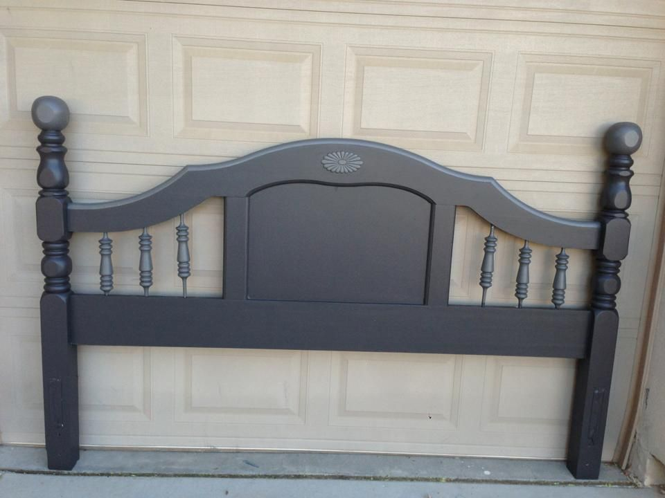 Plain Wooden Headboard Painted Charcoal Slate And Handcast Pewter Bohemian Headboard Wooden Headboard Painted Headboard