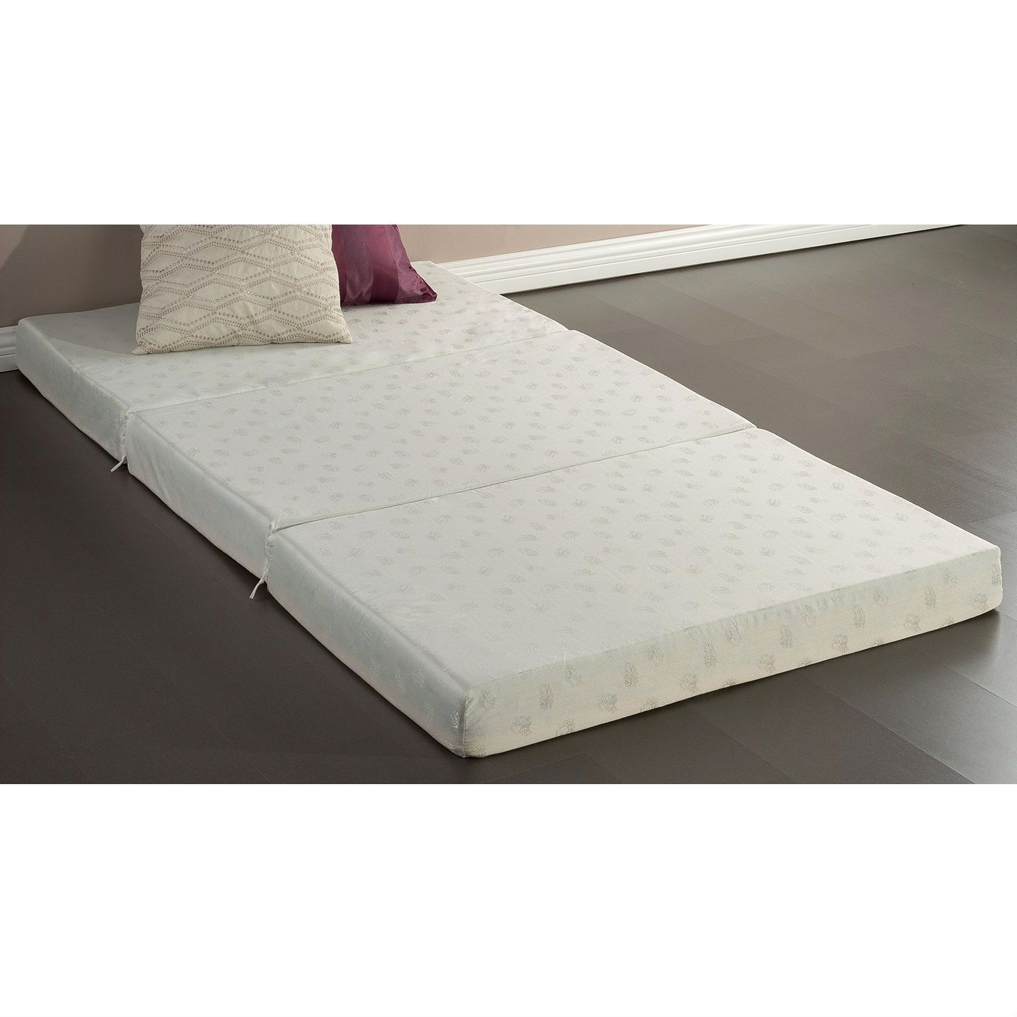 Foldable Foam Mattress Twin Size 4 Inch Thick Memory Foam Guest Bed Mat Folding Mattress