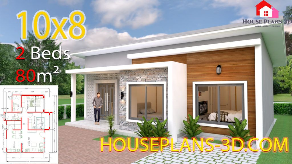 Interior House Design Plans 10x10 With 3 Bedrooms Full Plans House Plans 3d In 2020 House Plans Flat Roof House Small House Design Plans