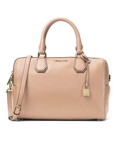 ce1568f08f36  249.99 marked down from  298! Michael Kors Oyster Mercer Studio Pebbled  Leather Duffle Bag  michaelkors  duffle  bag  zulily!  zulilyfinds