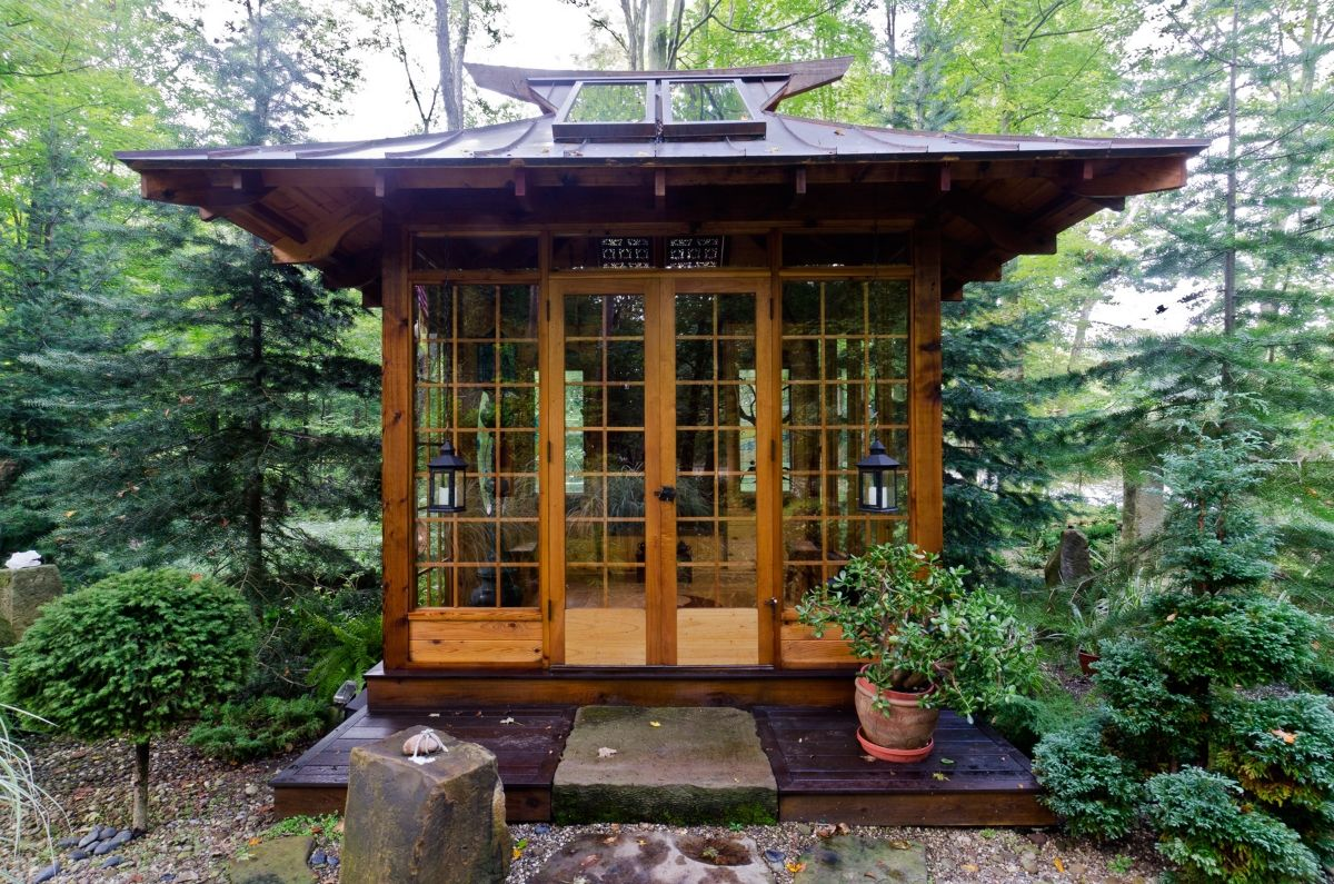 Image gallery outside japanese tea house for Modern japanese tea house design