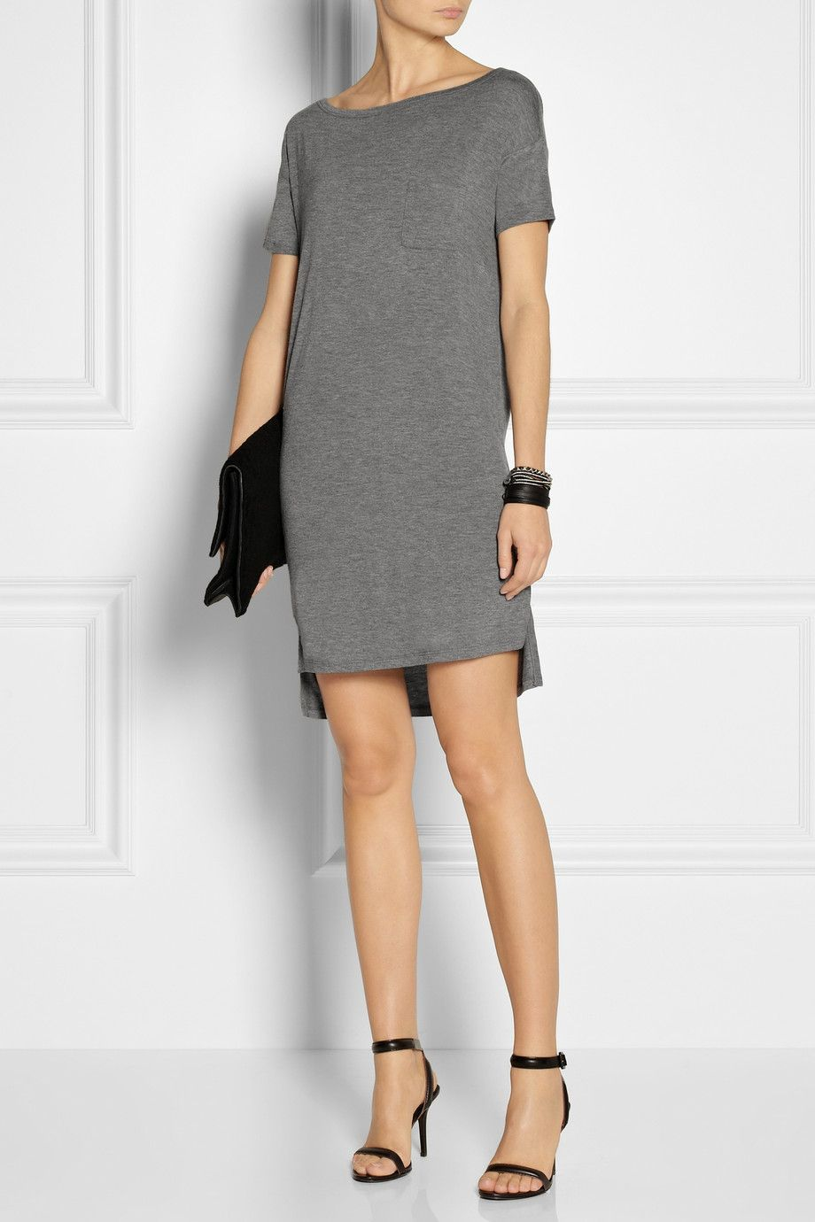 T By Alexander Wang Jersey T Shirt Dress Net A Porter My