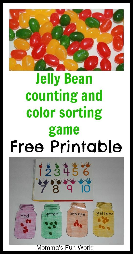 Counting and color matching learning game....with free printable ...