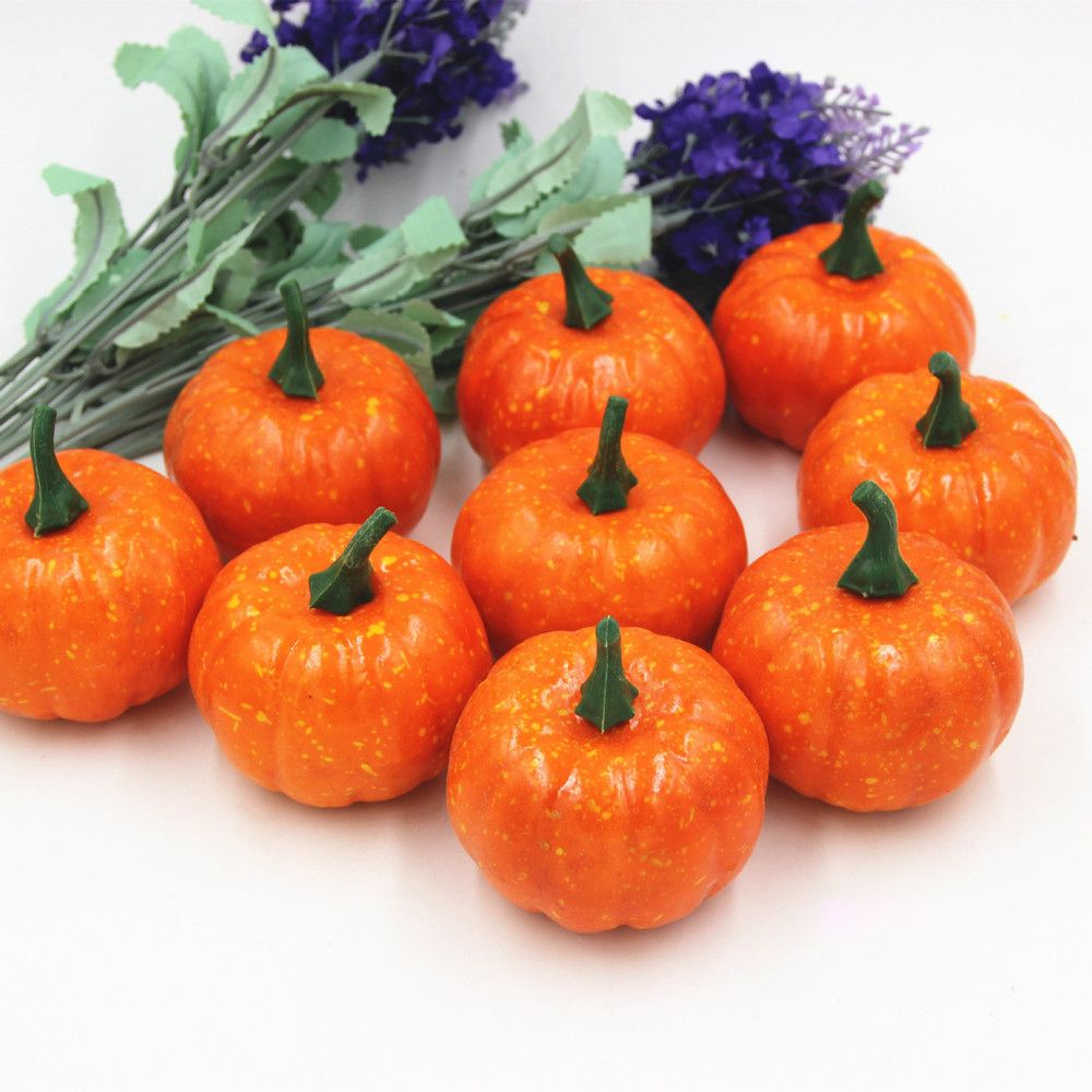Halloween Artificial Mini Vegetable Pumpkin Home And Party Fake Decoration Craft