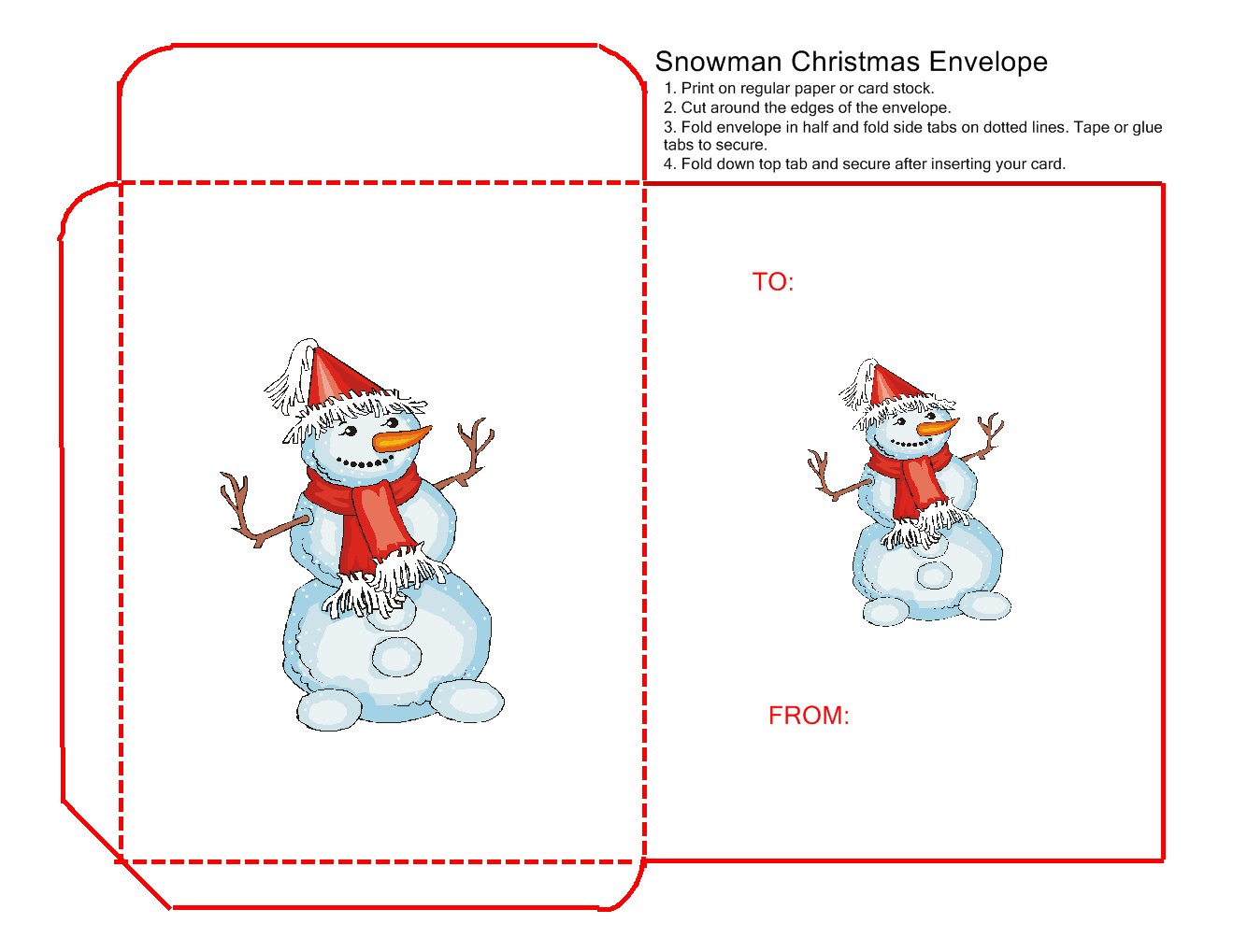 Christmas Snowman T Envelope Craft The Kids Can Make