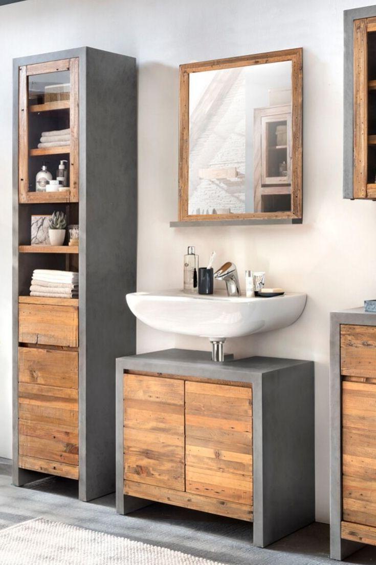Waschbeckenunterschrank Burnham Mit Bildern Beton Badezimmer