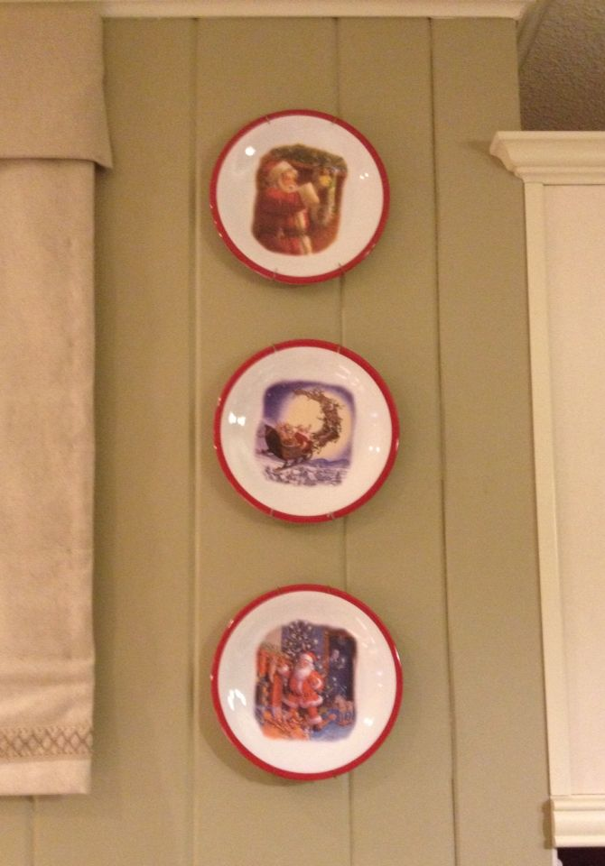 During the holidays, replace the decorative plates in your kitchen with inexpensive melamine Christmas plates.
