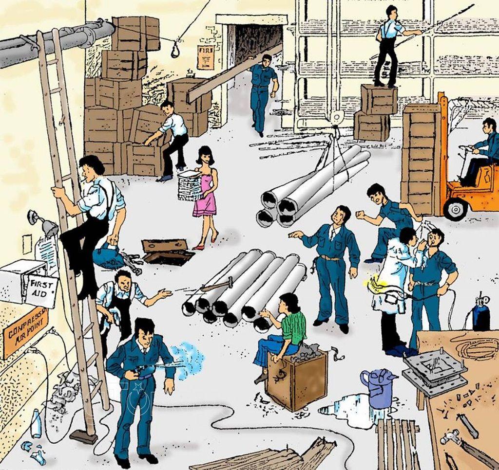 HAZARD ANALYSIS... Workplace safety, Safety cartoon