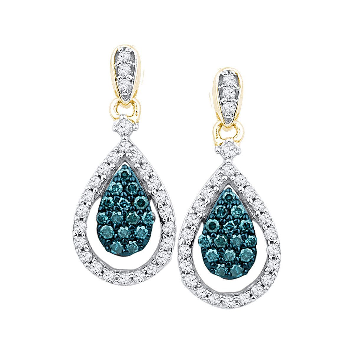5/8CTW-Diamond BLUE EARRING
