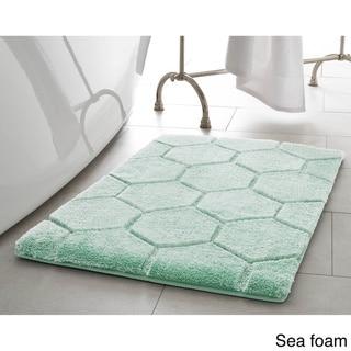 Laura Ashley Pearl Honeycomb 20 In X 32 In Bath Mat Sea Foam Green In 2019 Products Bath Mat Sets Bath Bath Linens