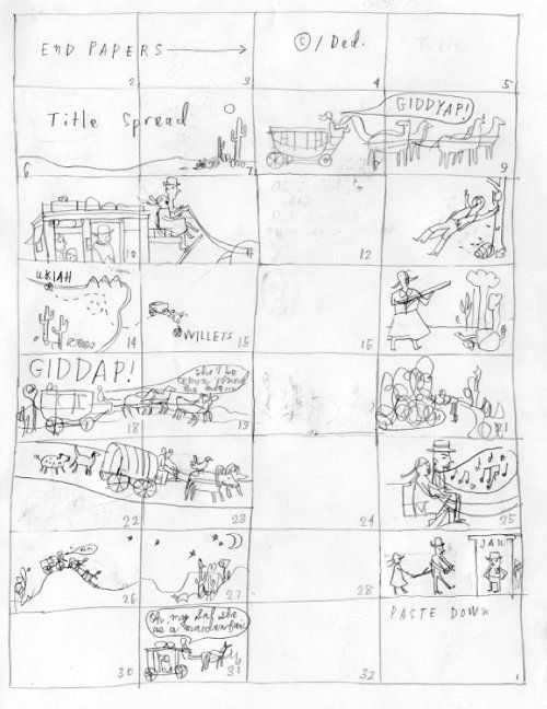 Story Board Seven Impossible Things Before Breakfast Blog Archive Seven Questions Over Br Book Illustration Layout Carson Ellis Picture Books Illustration