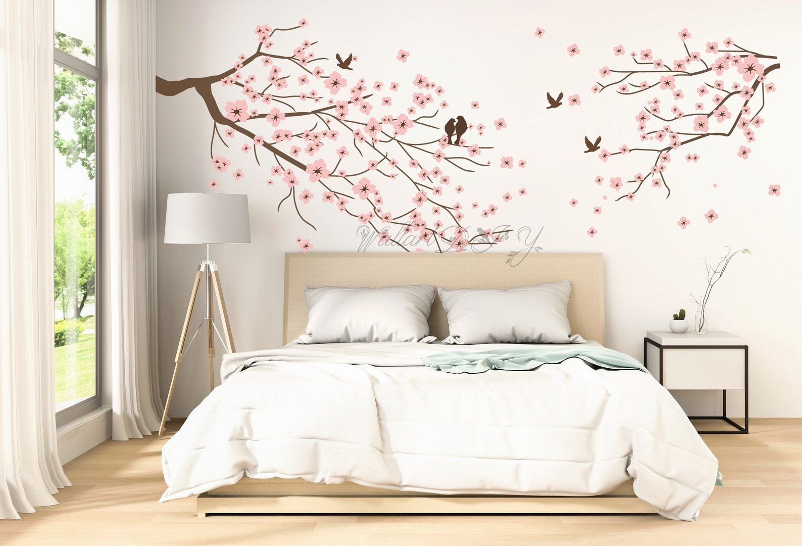 Large Cherry Blossom Wall Decals Tree