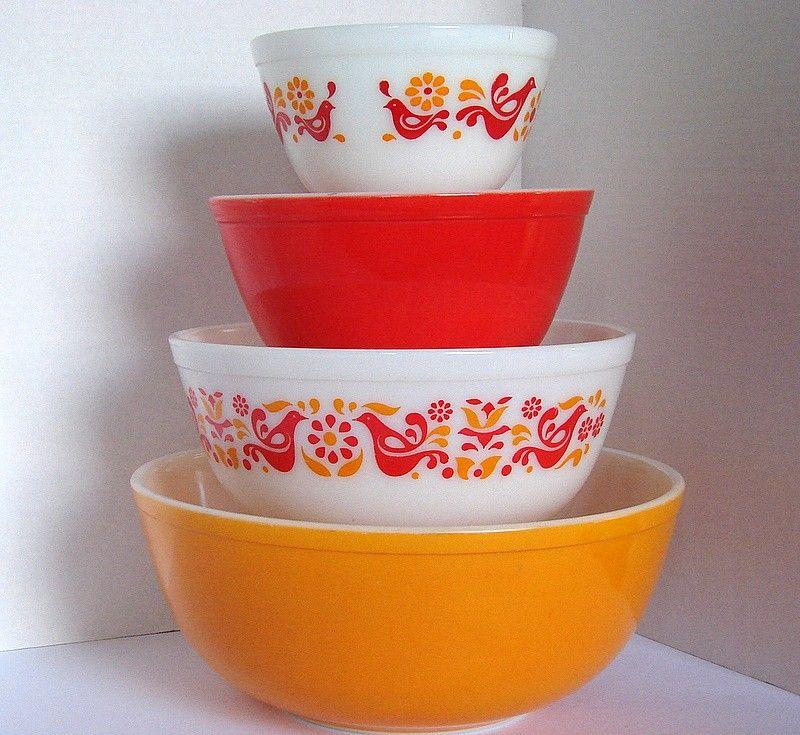 Vintage Pyrex Friendship Mixing Bowls | Pyrex, Vintage pyrex and ...