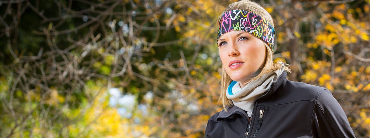 Exercise and running headbands for women that stay in place.