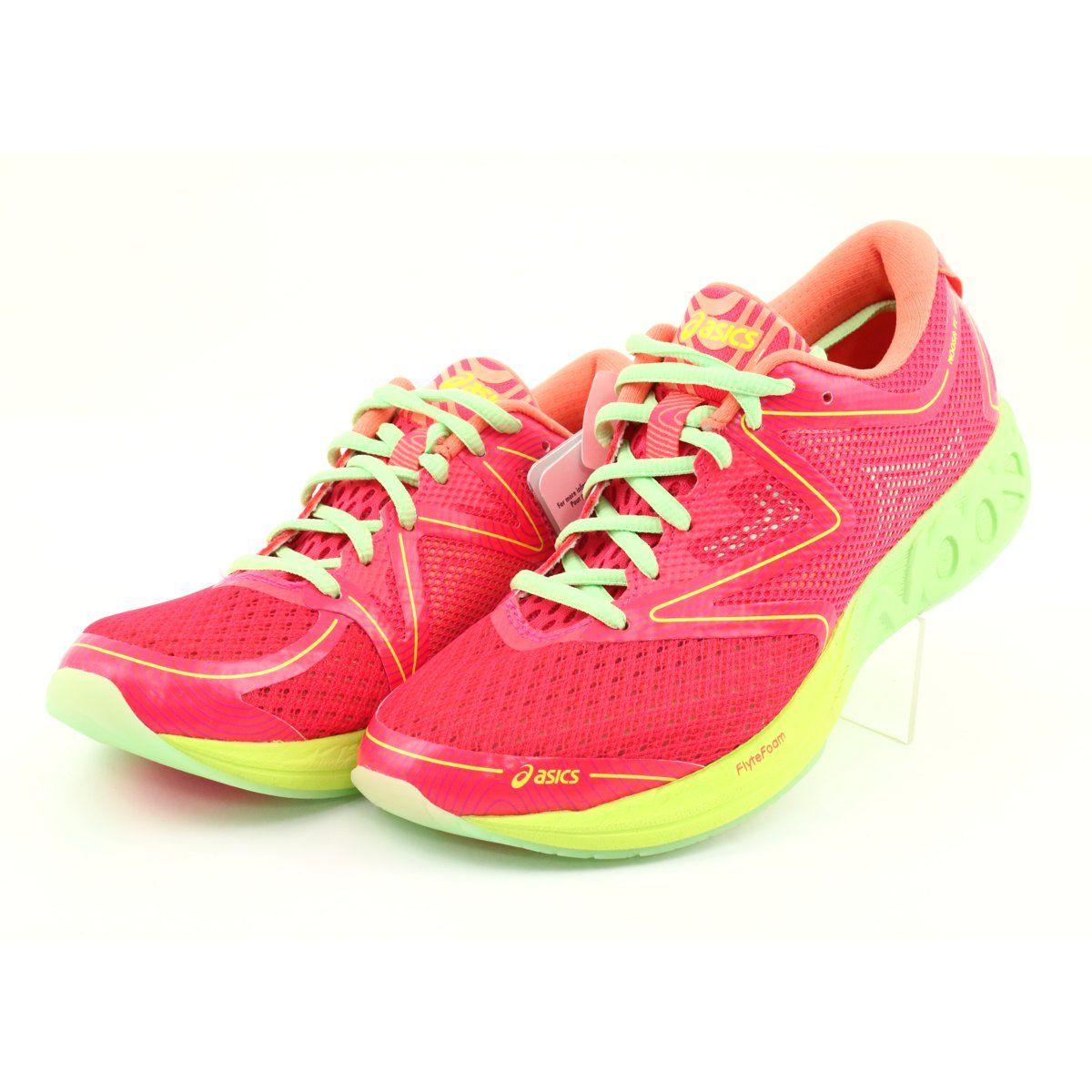 Asics Noosa Ff Running Shoes W T772n 2087 Red Orange Green Yellow Running Shoes Asics Running Shoes Shoes