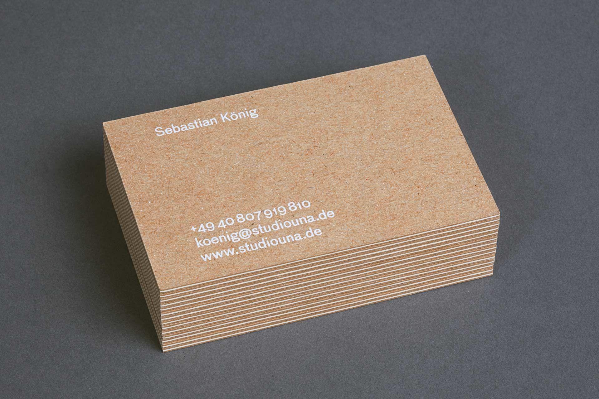 Studiouna Id 22 Print Visitenkarten Design