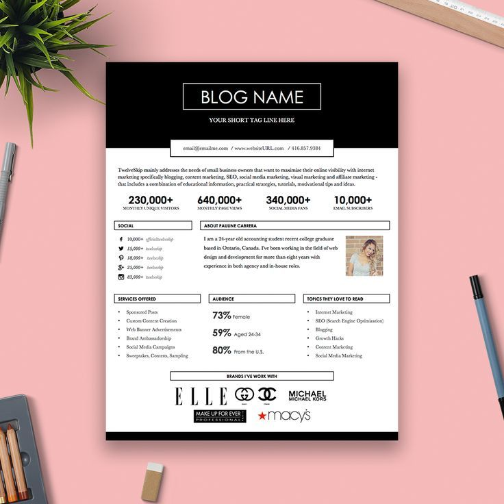 Such A Pretty Media Kit / Press Kit Template. Fave Of Em All! Http