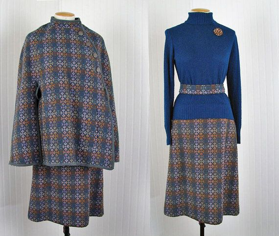 1960s Welsh Tapestry Cape Skirt Set