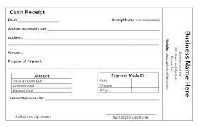written receipt of payment