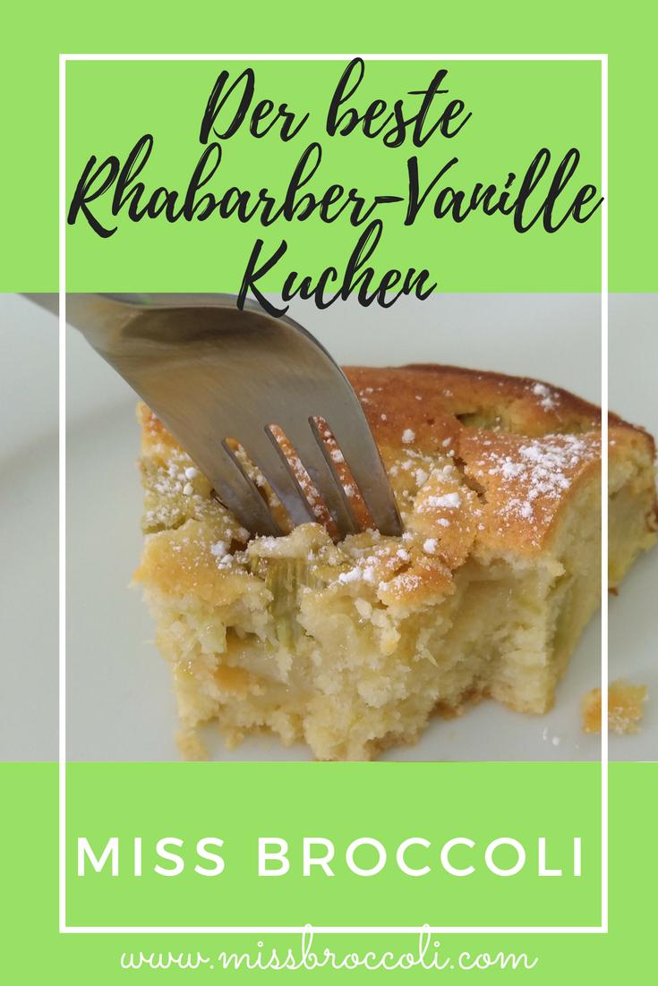 Schneller Blechkuchen Rezept der beste rhabarber vanillekuchen schneller blechkuchen rezept