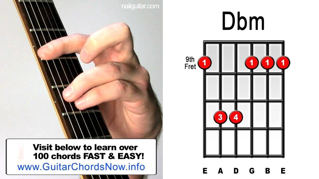 Dbm Minor Guitar Chord Lesson Easy Learn How To Play Bar Chords