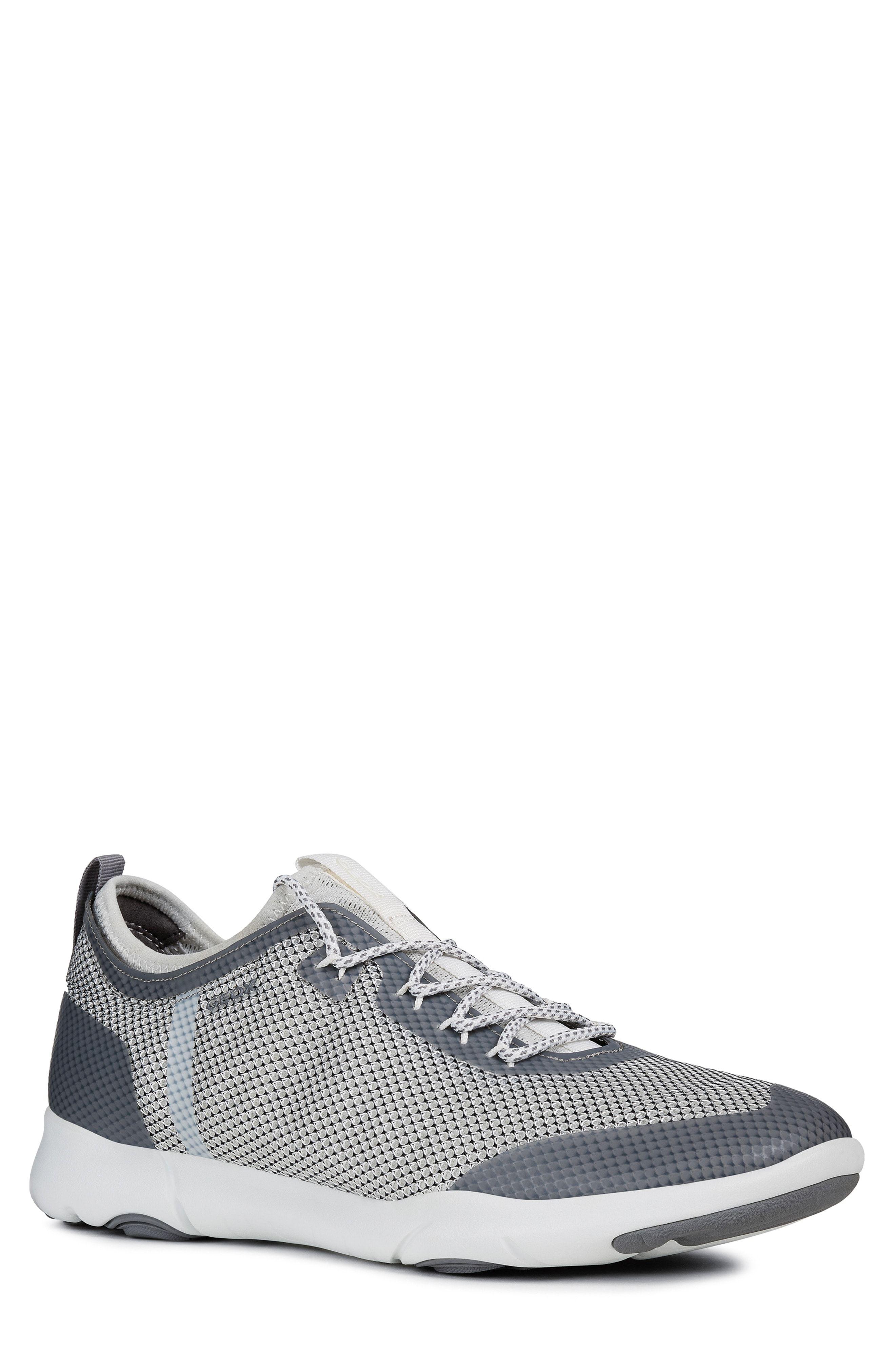 Grey Geox Geox U Nebula A Mens Slip On Trainers Shoes