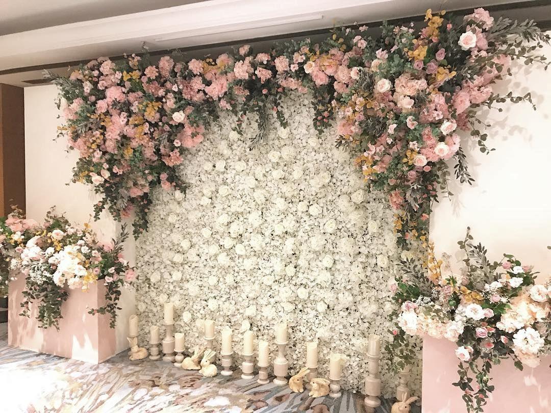 Nukan Rmutt On Instagram Rain Rental Rainrental Fleurbyrainforest Flowerinstagram Wedding Stage Decorations Wedding Themes Outdoor Bridal Shower Backdrop