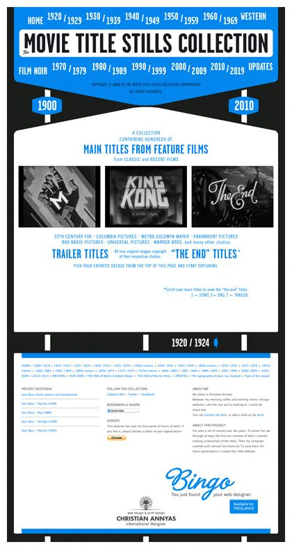 The Movie Title Stills Collection Web Design Movie Titles Film Noir Movies