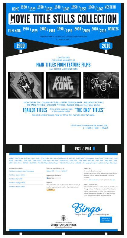 The Movie Title Stills Collection Web Design Movie Titles Film Noir Movies