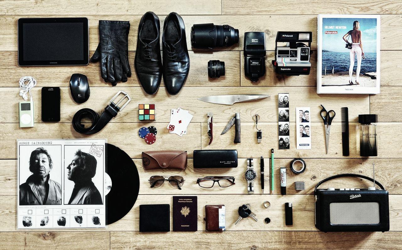 Organized man fashion design Things organized neatly