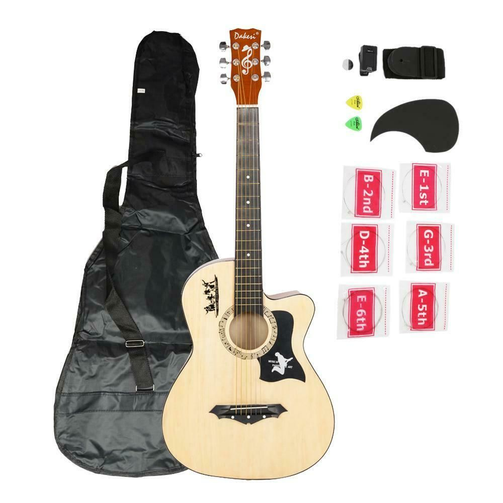 Acoustic Guitar With Guitar Case Strap Tuner Pick Steel Strings Steel Stringed Acoustic Guitar Ideas Of Acoustic Guitar A Guitar Tuners Guitar Bag Guitar