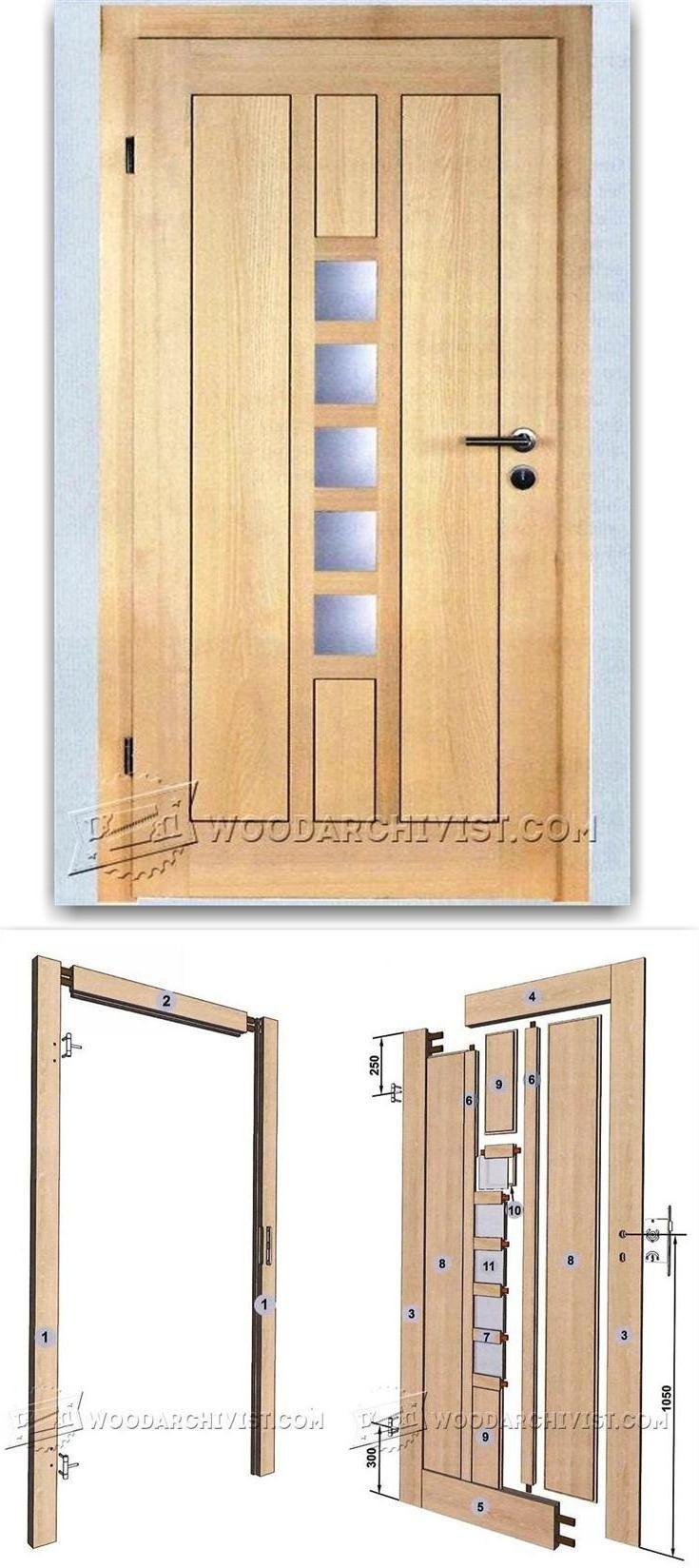 Making A Wooden Door Door Construction And Techniques Woodarchivist Com Wooden Doors Woodworking Projects Woodworking Plans
