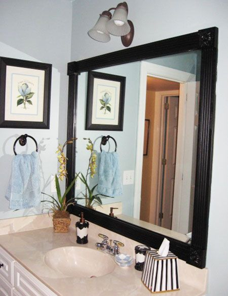 Need To Do This Since I Can T Seem To Find The Right Size Mirrors For Our Bathroom Diy Decorating Ideas