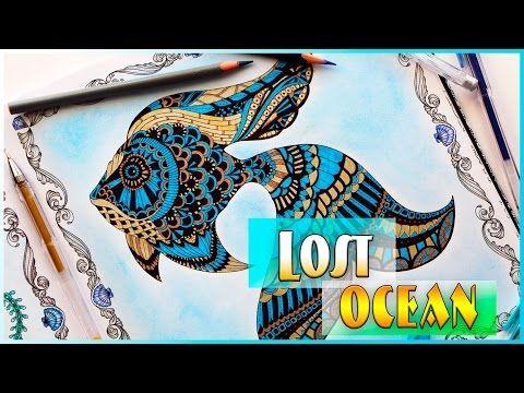 Lost Ocean Coloring Book Speed Coloring Johanna Basford Coloring Book For Ad Basford Coloring Book Johanna Basford Coloring Book Lost Ocean Coloring Book