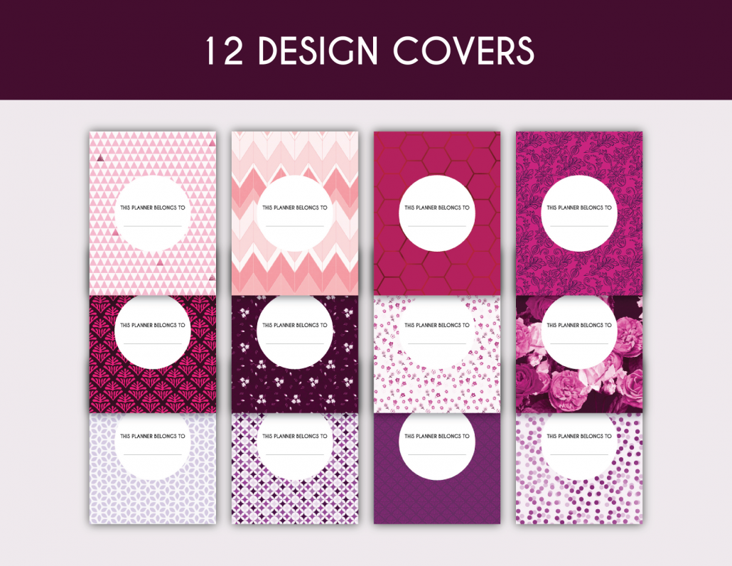 free 12 cover printable planner pages letter size a better me