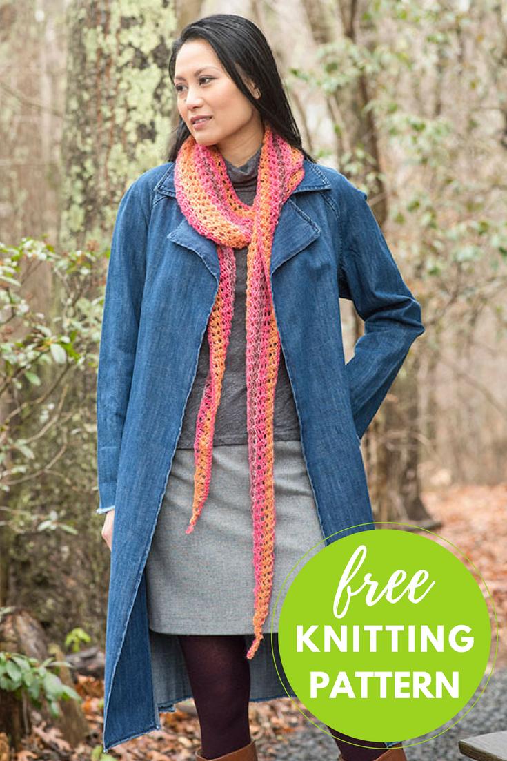 Trelawny Scarf Free Knitting Pattern | Knitting patterns, Scarves ...