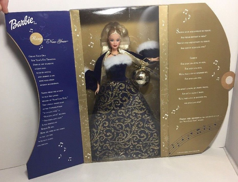 Mattel 2001 Barbie Ring in the New Year *NIB* Mattel