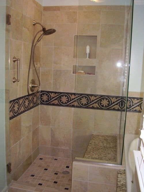 Love a shower with a bench! | Bathroom Remodel | Pinterest | Bench ...