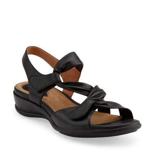 Lucena Black Leather womens-ortholite. Clarks SandalsWomen's ...