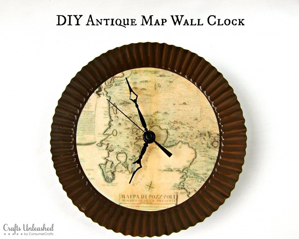 Make Your Own Clock with an Antique Map Theme   Antique maps, Wall ...