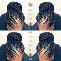 Ghana Braids With Twists Banana Cornrows Feed In Updo