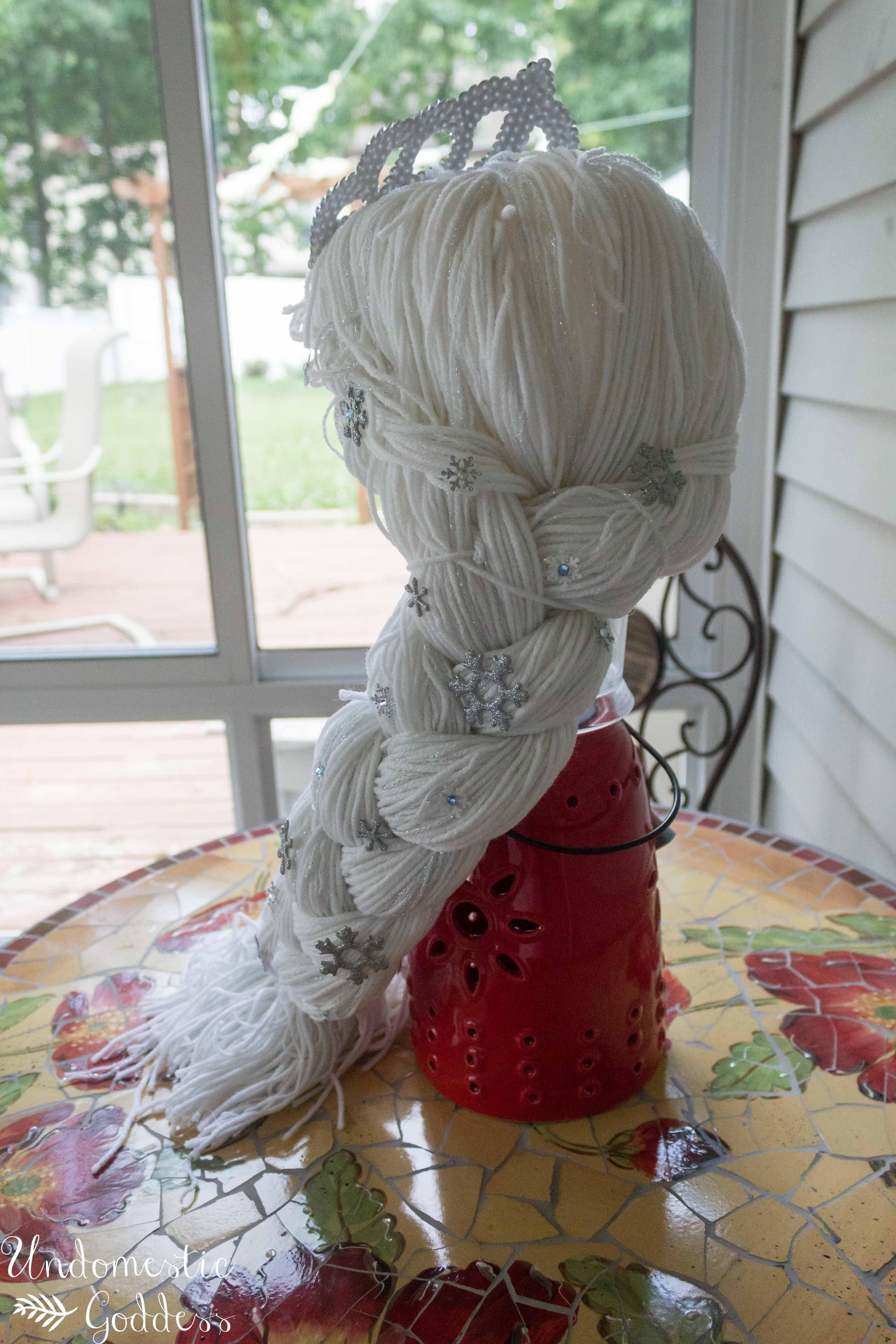 diy yarn elsa wig crochet