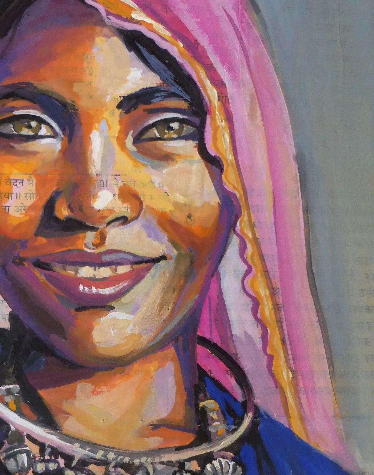 Portrait D Inde Rajahstan Portrait Dessin Inde Dessin Comment