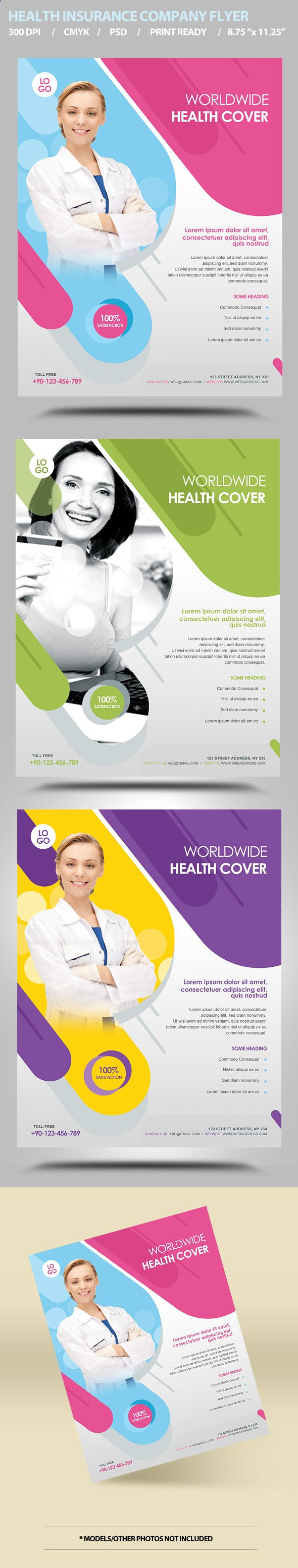 Health Insurance Flyer Template By Satgur  Via Behance  Graphic