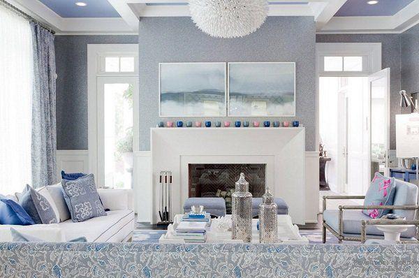 Blau und silber wohnzimmer designs mehr auf unserer for Wohnzimmer dekoration silber