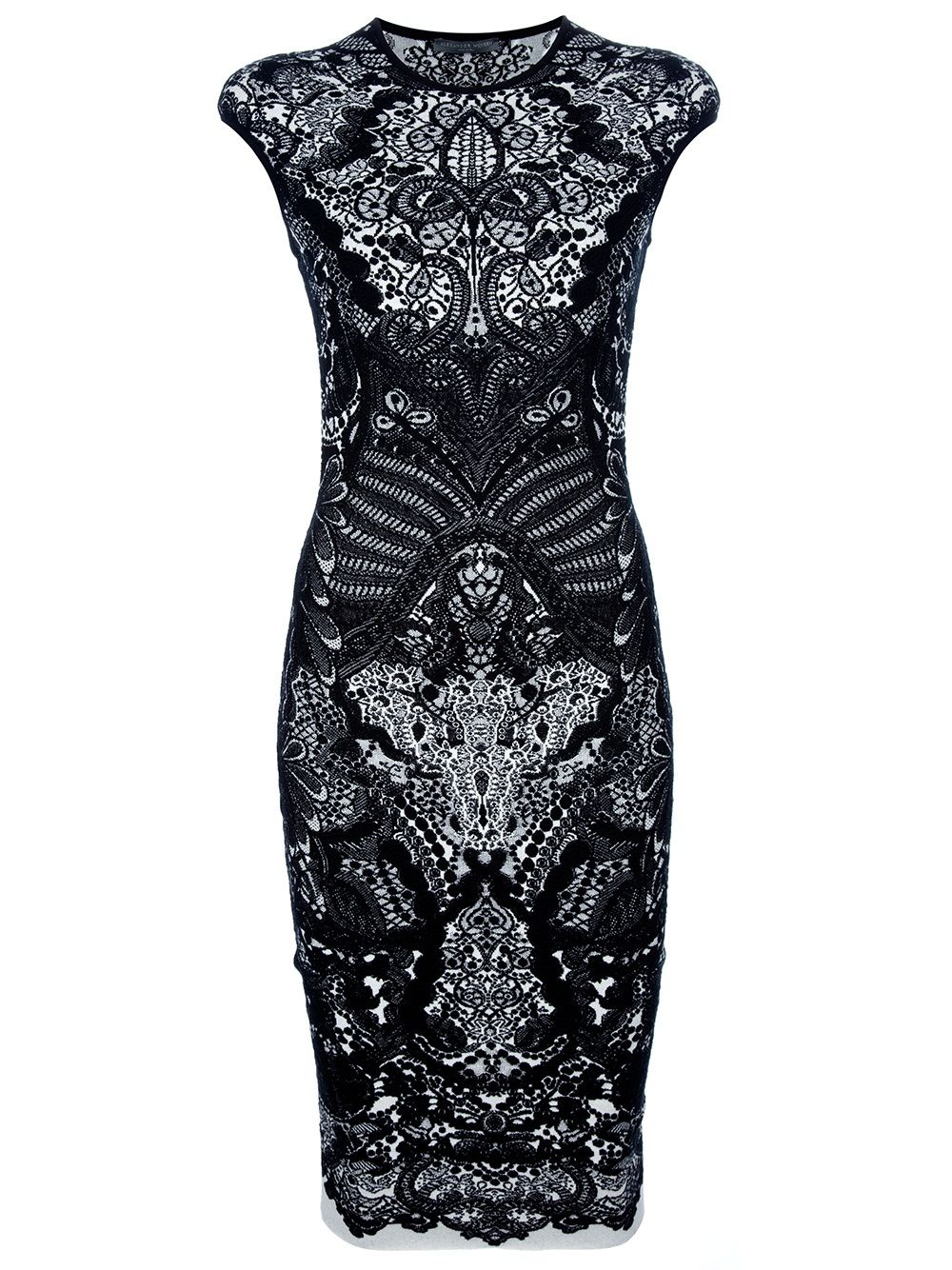 Alexander McQueen...well, not quite *my* style (I do Not Wear Sheath dresses), but lovely nonetheless.