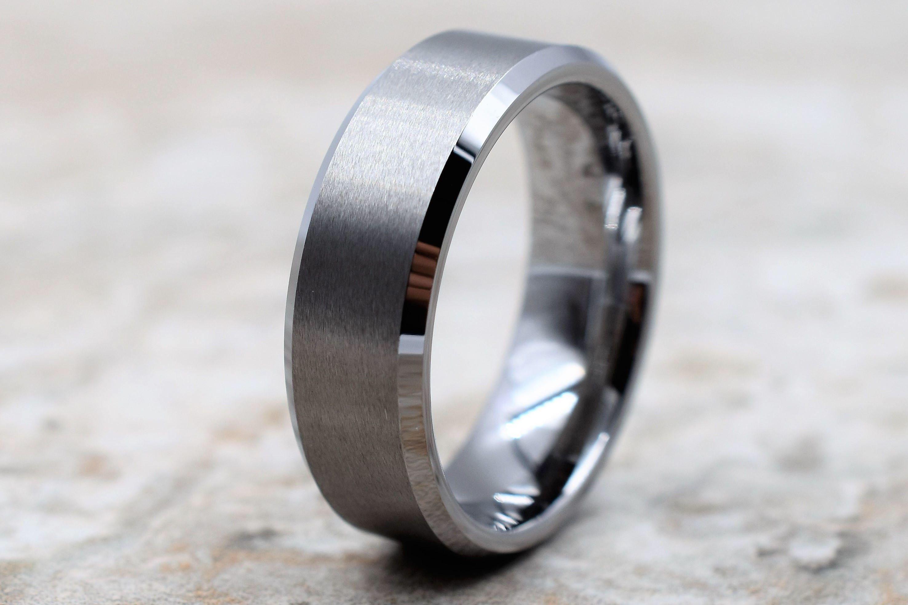Tungsten Ring Men's Tungsten Wedding Band Men's Etsy