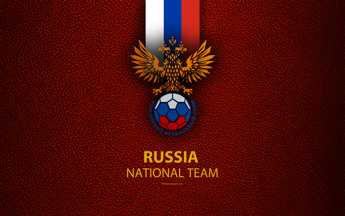 Download Wallpapers Russian National Football Team 4k Leather Texture Russian Federation Emblem Logo Football Russia Besthqwallpapers Com National Football Teams Leather Texture Football Team